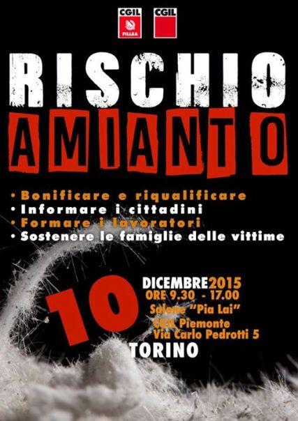 convegno FILLEA AMIANTO Torino 10 dicembre 2015