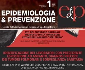 Sorveglianza sanitaria: pubblicati sulla rivista Epidemiologia & Prevenzione gli atti del convegno promosso dalla Fondazione Bepi Ferro il 4 dicembre2014