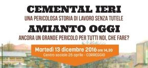 CEMENTAL IERI – AMIANTO OGGI: ASSEMBLEA A CORREGGIO (RE) 13 DICEMBRE2016
