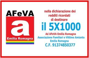 5×1000: sostieni l'Associazione Familiari Vittime dell'Amianto EmiliaRomagna