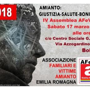 AFeVA Emilia Romagna: IV Assemblea degli Associati Bologna Sabato 17 marzo 2018 – RENDERE OPERATIVO IL PIANO AMIANTOREGIONALE