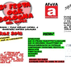 LE OFFICINE DELLA MEMORIA: 5^ FESTA OGR BOLOGNA PRANZO SABATO 7 APRILE AL CIRCOLO ARCIBENASSI