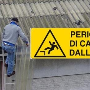 Bonifica ETERNIT: ancora un grave incidente sul lavoro per caduta dall'alto per sfondamento di un tetto in ETERNIT aModena
