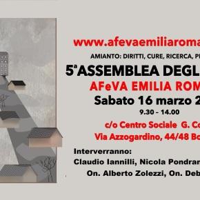 AMIANTO: la vertenza nazionale al centro della 5^ Assemblea degli iscritti AFeVA Emilia Romagna – BOLOGNA 16 MARZO2019