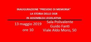 """Amianto e Lavoro: Inaugurazione """"Museo della Memoria OGR Bologna"""" Lunedì 13 maggio Assemblea Legislativa RegioneEmilia-Romagna"""