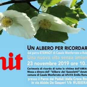 RUBIERA (RE): ETERNIT un albero per ricordare – 23 novembre 2019 Cerimonia di ricordo vittimeamianto