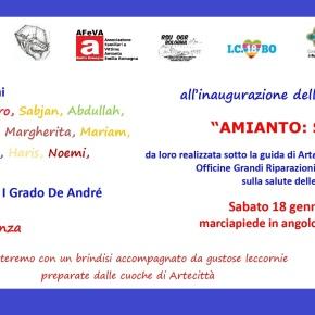 """""""Amianto: si deve sapere!"""": 18 gennaio 2020 inaugurazione installazione artistica sulle OGR, di ARTECITTA' realizzata dai ragazzi/e della 2^B scuola """"DeAndrè"""""""