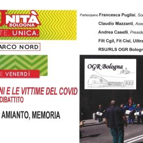 OGR Bologna – LAVORO, AMIANTO, MEMORIA : alla FEST'UNITA' Bologna Venerdì 18 settembre 2020 ore19.00