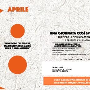 AMIANTO E SALUTE E SICUREZZA SUL LAVORO – INIZIATIVA ON-LINE DI CGIL-CISL-UIL28/04/2021